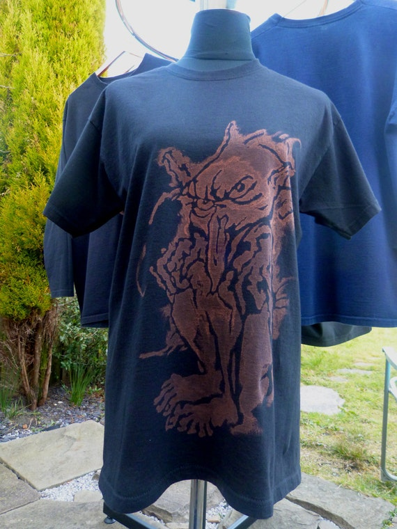 Bleach design goblin t shirt size uk large for How to bleach designs into shirts