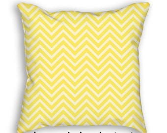 Yellow Chevron Pillow Cover and Insert Zig Zag Throw Pillow Decorative Acent Art Nursery Pillow cushion Home Decor Baby Shower Gift 4012