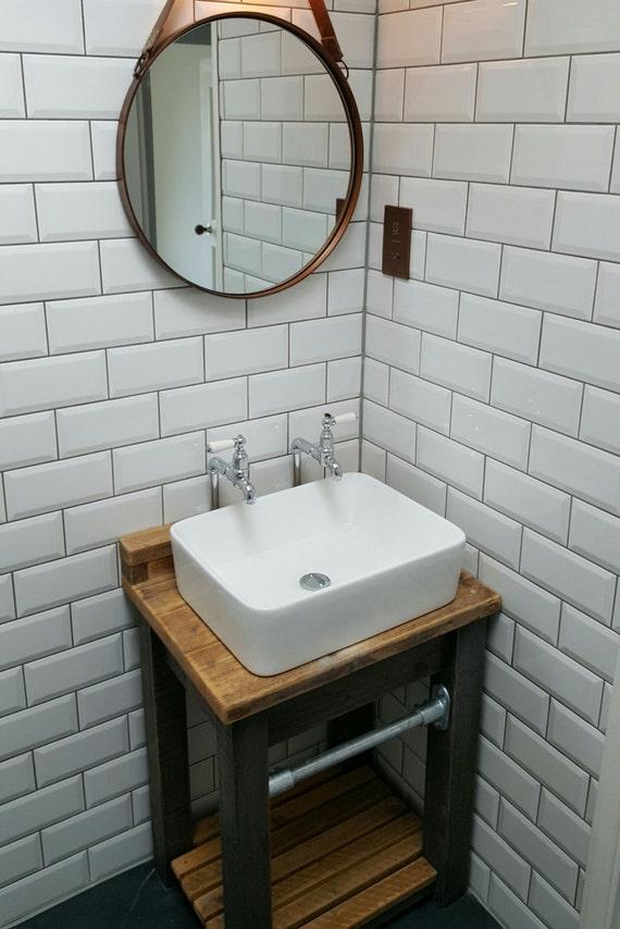 Industrial Reclaimed Wood Vanity Unit
