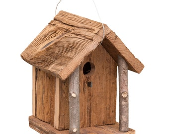 Hanging Barn wood Rustic Rustic Chalet Bird House Amish Handcrafted Made in USA