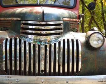 Vintage Truck,FREE SHIPPING-United States, Rustic Decor, Chevy Truck, Fine Art Photography, Home Decor, Man Cave Decor