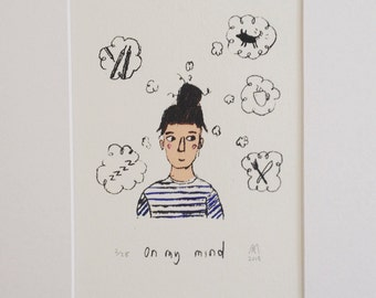 On my mind (Limited edition, original and mounted screen print)