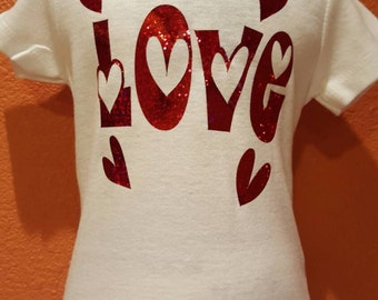 Love is in the AIR. VALENTINES DAY Onesie for baby girl.
