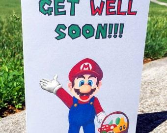 Mario Card Get Well Soon