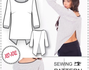 Top Patterns - Cross Back Top Pattern - Blouse Patterns - Sewing Tutorials - Blouse Sewing Patterns - Womens Sewing Patterns - Sew Easy