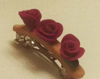 Purple flower barrette
