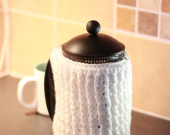 French Press Coffee Pot Warmer gift Cozy Cover bodum cozy cafetiere cozy coffee pot cozy coffee pot cosy