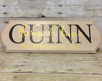 Last Name Established Sign | Personalized Family Sign | Couple Gift | Wedding Gift | Engagement Gift | Mothers Day