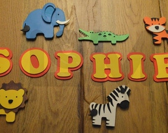 Hand crafted personalized name plaque - wooden name sign letters