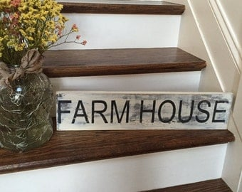 Rustic Vintage Farmhouse Wooden Sign Hand Painted