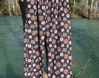 "SARGENT PEPPER'S Lonely Hearts Club Band Large PJ bottoms very casual 32"" to 36""elastic waist pants circa 1995 Lyric by Lennon & McCartney"