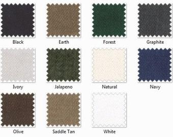 SWATCH: 12 oz Brushed Denim Fabric