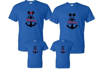 Matching Disney Cruise Family Vacation Shirts- Disney shirts- matching family shirts-disney vacation- disney cruise- cruise shirts- anchors