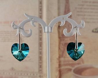Earrings Blue Hearts