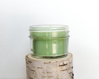 Tea & Lemongrass Candle    Hand Poured    Organic Soy Candle // 4 oz. Jar