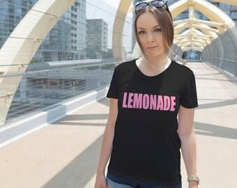 Women's PINK Lemonade Shirt Printed Formation T-Shirt #1386