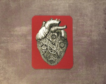Anatomical Clockwork Heart Handmade Card