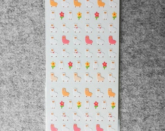 Cute small stickers - alpacas | Cute Stationery