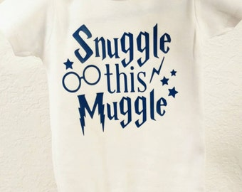 Snuggle This Muggle Harry Potter onesie!