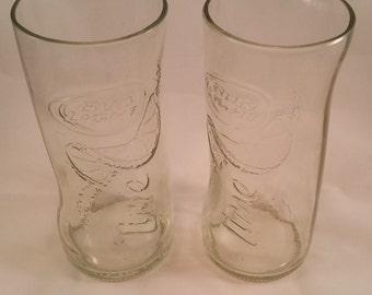 NEW Bud Light Lime Beer Bottle Drinking Glass Set of 2