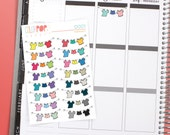 Clothesline Stickers, Laundry Stickers, Clothesline Planner Stickers - D001