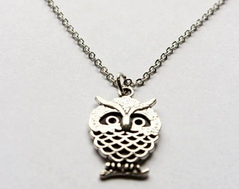 Cute necklace owl charm
