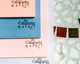 Calligraphy Writing Pads - Salmon, Deep Blue, Pastel Pink and Lilac