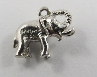 A Little Baby Elephant  Sterling Silver Charm or Pendant.