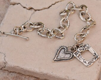 Forever in my Heart Sterling Silver Bracelet