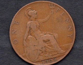 Great Britain. 1908. Edward V11.Penny Coin.