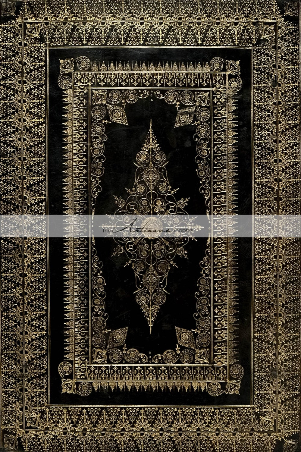 Book Cover Black And Gold : Printable instant download gothic black gold book cover