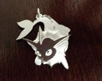 Vaporeon Sterling Silver Pendant