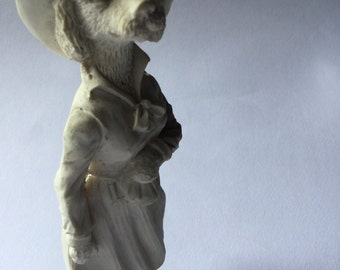 Edwardian plaster statues the spinster-plaster statuette the Edwardian spinster