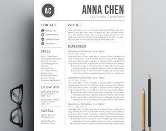 resume template cv template cover letter for ms word professional and modern resume