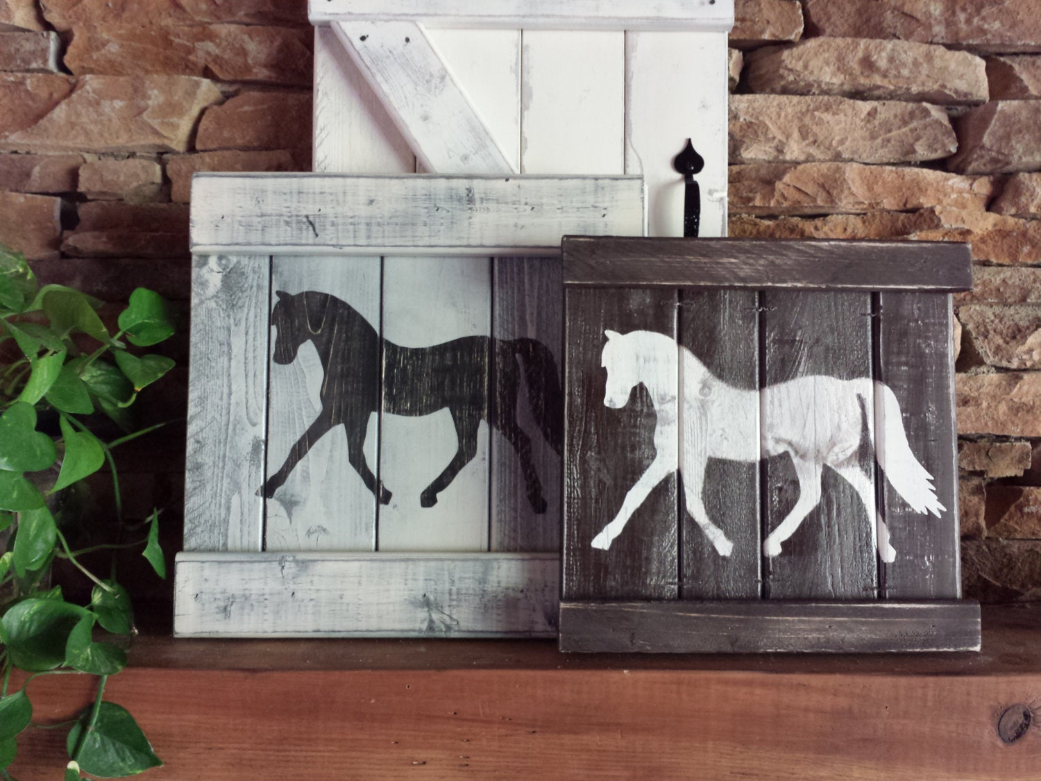 Rustic horse decor equestrian wall decor horse by for Art wall decoration