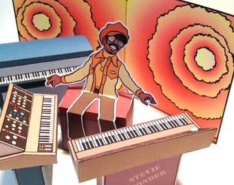 Stevie Wonder Diorama Card Toy