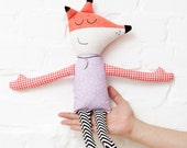 Fox stuffed animal Toy Soft Fox eco toy art doll toy animal Woodland animal gift for children for her for him nursery decor