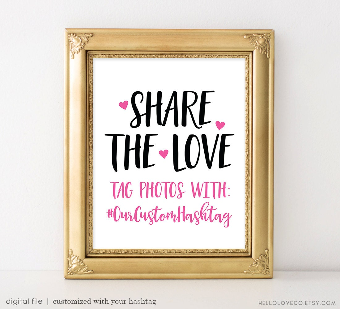 Spanish Wedding Hashtags: PRINTABLE Wedding Hashtag Sign Wedding Photos Sign Share