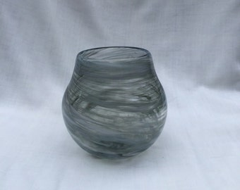 Stormy Skies Hand Blown Glass Bowl (AW B111)
