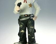 Emmett Kelly The Vigilante Bisque Porcelain Clown Figurine MIB Flambro 9989 COA