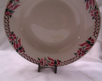 French Serving Dishes, Ceranord, Digoin, French Vintage, Set of Two Floral Dishes