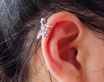 Frog Ear Cuff, 925 Sterling Silver, Ear cuff non pierced, Amphibian Jewelry - MI.22/EC036