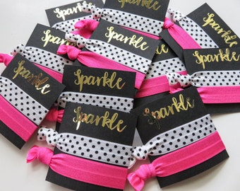 Kate Spade party - theme - Hair Tie favors, gift bag , elastic hair ties, birthday , bachelorette party , bridal shower, swag bag