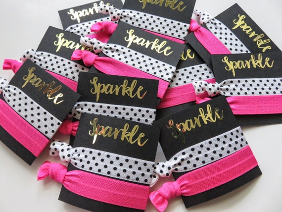 Kate spade party theme hair tie favors gift bag elastic for Bedroom kandi swag bag