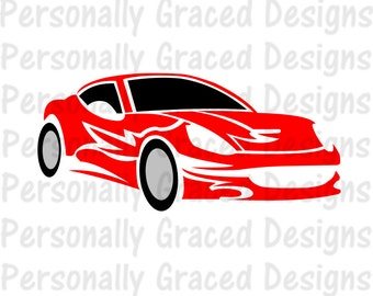 SVG, DXF, EPS Cut file Race Car svg, Car Svg, Racing svg, silhouette cut file, cameo file, Racecar cut file, Race Car Design, Hot Rod svg