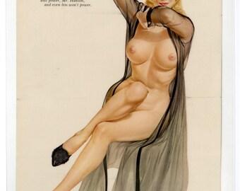 Vargas Girl Laminated Pinup Girl ~ 1967 Laminated Vargas Girl ~ Alberto Vargas Pin-Up ~ Vargas Pin Up ~ Upgrade to a Laminated Notebook