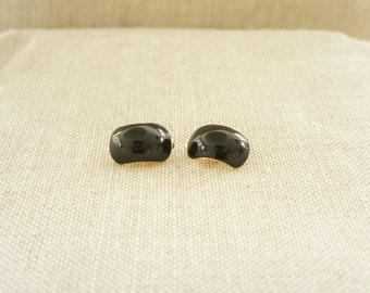 Black Clip on Earrings