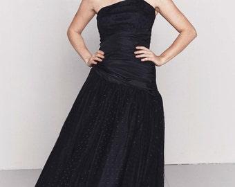 1980s Little Black Dress   Black Holiday Dress   Black Party Dress   New Year's Eve Dress