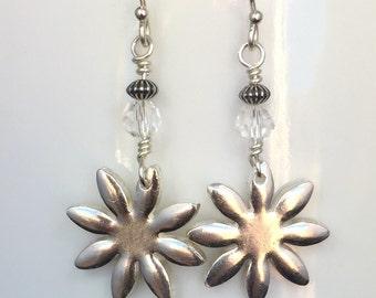 Fine Silver Earrings / Precious Metal Clay Jewelry - Item FSC011015