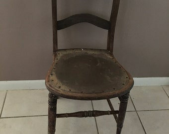 Antique, Wood Kitchen Chair - 1910 (Local Pickup Only!)